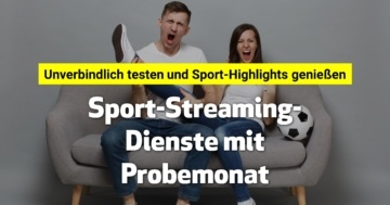 Sport-Streaming-Dienste mit Probemonat